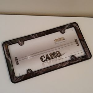 Camouflage License Plate Frame